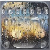 Rain Drop Keyboard Theme Rain Glass icon