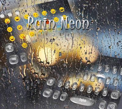 Rain Drop Keyboard Theme Rain Glass apk screenshot