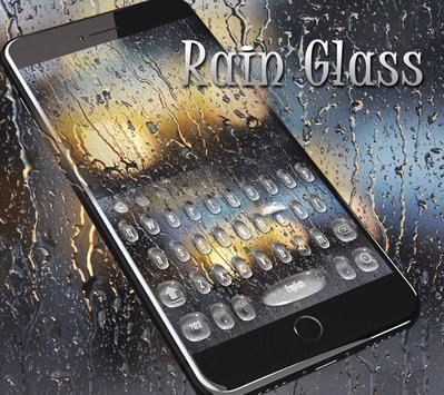 Rain Drop Keyboard Theme Rain Glass poster