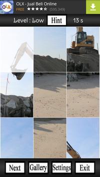 Excavator Puzzle Game apk screenshot