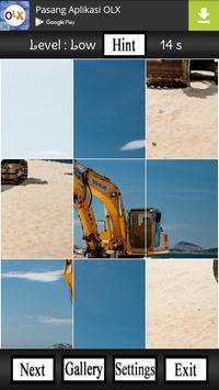 Excavator Puzzle Game poster