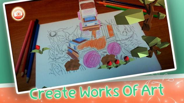 Magic Painting:Augmented Reality Coloring Book poster