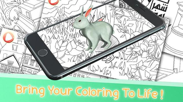 Magic PaintingAugmented Reality Coloring Book Apk Screenshot
