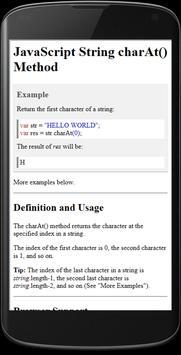 JavaScript Reference apk screenshot