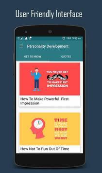 Personality Development App poster