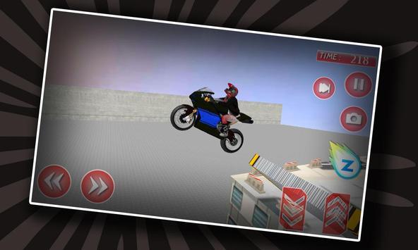 Motor Biker Extreme Roof Jump poster