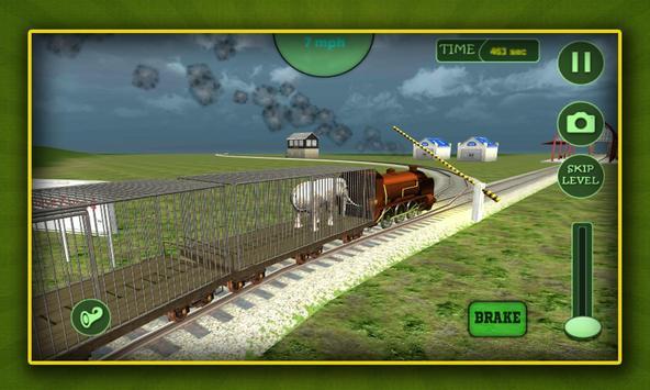 Jungle Animals Train Transport poster