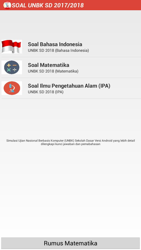 Soal Un Sd 2017 2018 Unbk For Android Apk Download