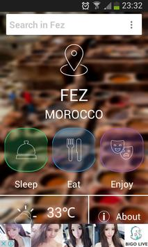 fez city guide poster