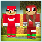 Ugandan Knuckles Skin for Minecraft PE icon