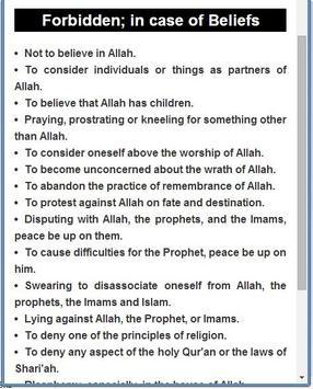 Haram Activities for Muslims apk screenshot