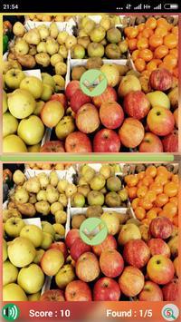 Find Fruit Differences apk screenshot