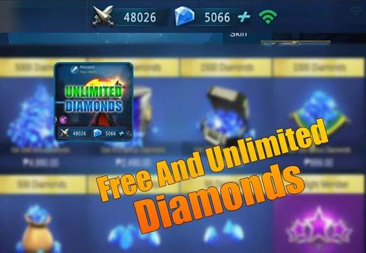 Instant mobile legends free diamond Daily Rewards poster