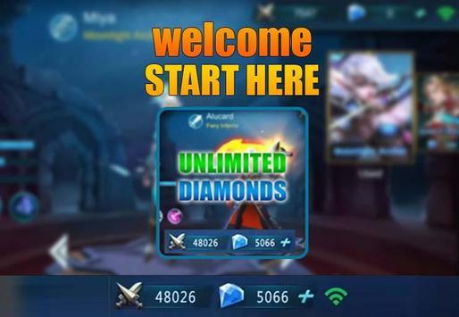 Instant mobile legends free diamond Daily Rewards apk screenshot