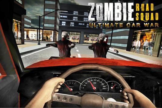 Zombie Road Squad: Car War 3D poster