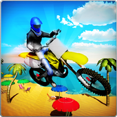 Crazy Beach Bike Stunts Sim 3D icon