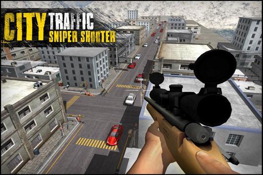 City Traffic Sniper Shooter 3D poster