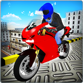 Crazy Rooftop Bike Stunts 3D icon