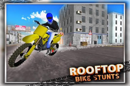 Crazy Rooftop Bike Stunts 3D poster