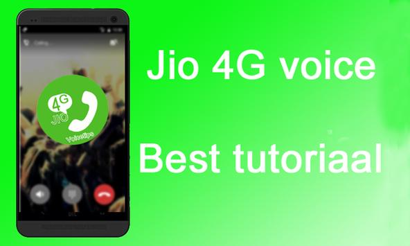 Free Jio4GVoice call Tips poster