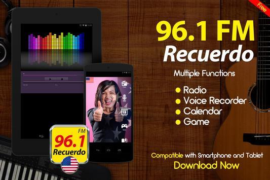 Recuerdo 96.1 Radio De Estados Unidos apk screenshot