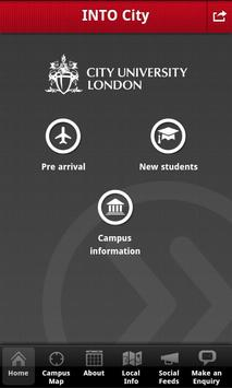 INTO City London student app poster