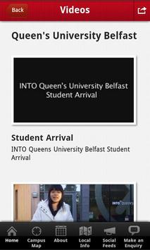 INTO QUB student app apk screenshot