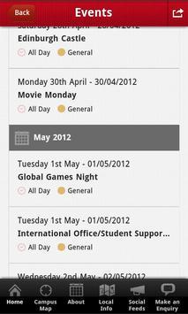 INTO GCU student app screenshot 2