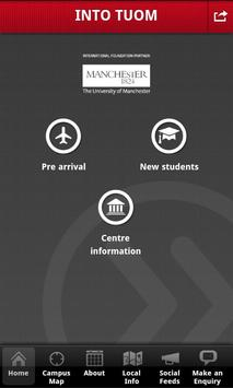 INTO TUOM student app poster