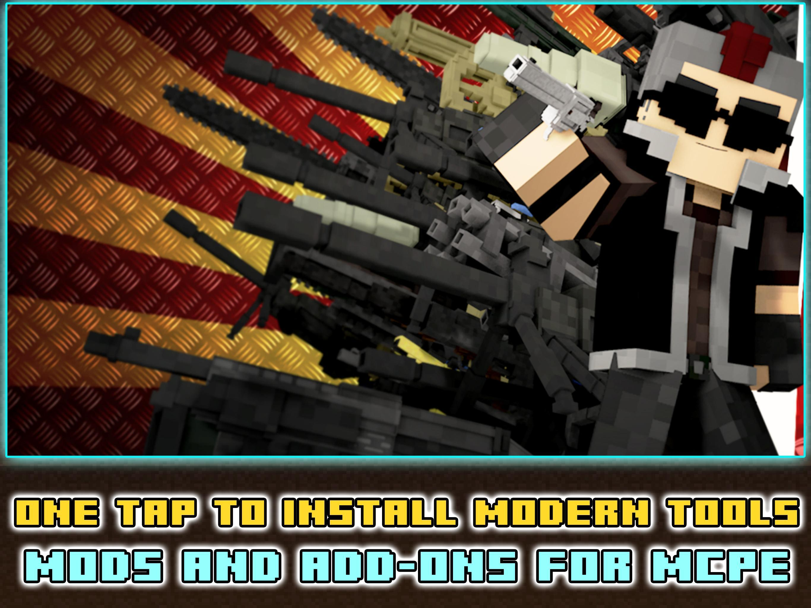 Modern tools mods and addons for Minecraft PE ™ for Android