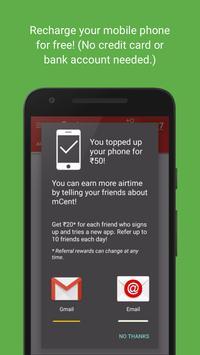 mCent - Free Mobile Recharge APK-screenhot