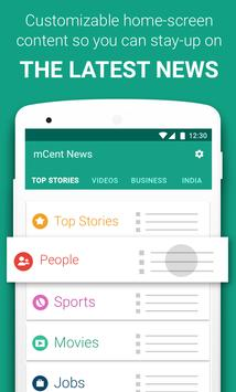 mCent Browser - Fast and Safe plus Free Data apk screenshot
