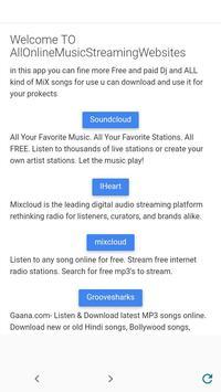 All Online Music Streaming Websites mcet cse poster
