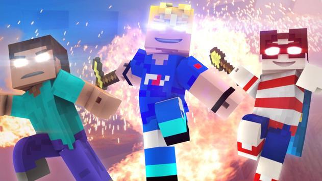 Herobrine Skins for Minecraft poster