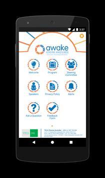 Awake Symposium 2018 poster