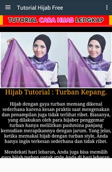 Tutorial Hijab 2017 Free screenshot 2