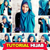Tutorial Hijab Monochrome icon