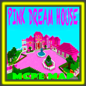 Pink Dream House Princess map for MCPE Mine icon