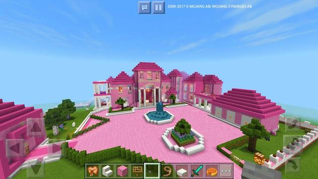 Pink Dream House Princess map for MCPE Mine poster