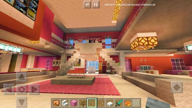 Pink Dream House Princess map for MCPE Mine screenshot 12