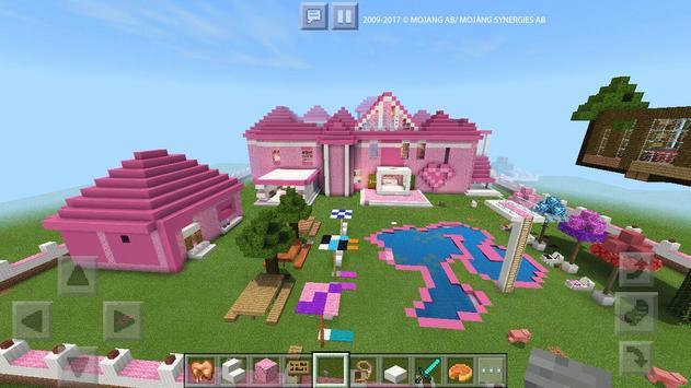 Pink Dream House Princess map for MCPE Mine screenshot 16