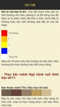 Phong Thuy Mau Sac - Âm Dương apk screenshot