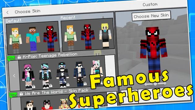Spiderman Skin Pack Minecraft PE For Android APK Download - Skins para minecraft pe kpop