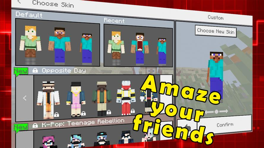 New Funny Steve Skins For Minecraft For Android APK Download - Skins para minecraft pe kpop