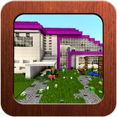 Pink House of Redstone Mechanisms Map MCPE icon