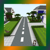 School and Neighborhood. Map for MCPE icon