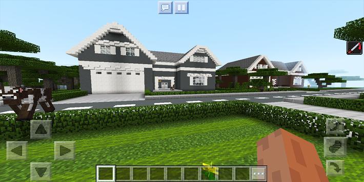 School and Neighborhood. Map for MCPE screenshot 2