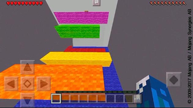 The White MCPE Parkour Map apk screenshot