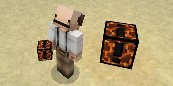 Lucky Block Hardcore Mod for Minecraft PE poster