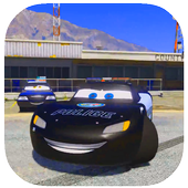 Police Mcqueen Lightning Race Chase icon